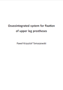 Cover of Dissertation from Pawel Tomaszewski. Orthopaedic Research Lab Nijmegen.