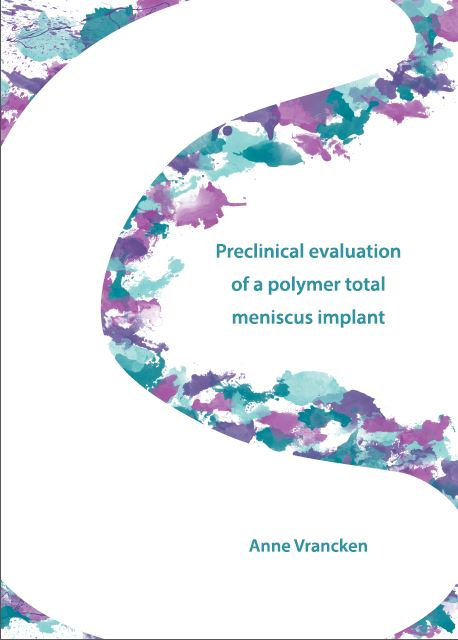 Cover of Dissertation from Anne Vrancken. Orthopaedic Research Lab Nijmegen.