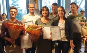 RIHS awardees 2017 and 2018, Florieke Eggermont 2nd from the right. | Orthopaedic Research Laboratory Nijmegen, radboudumc, Radboud university medical centre